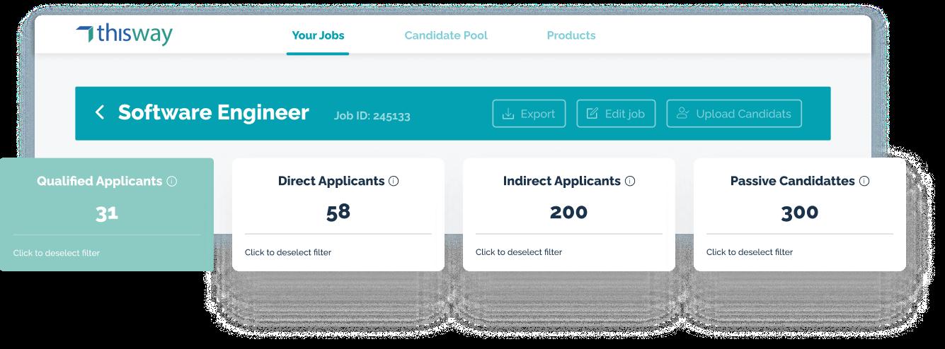 Applicants Screenshot
